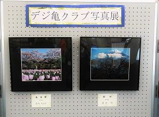 写真サークル「デジ亀クラブ」の写真ロビー展示をしています